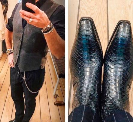 stivali texani in pelle scarpe uomo Jo Ghost